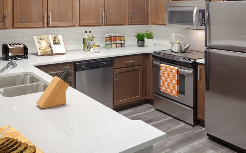 spacious, well lit kitchen and ample counter space